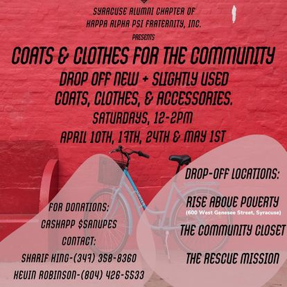 The flyer used to promote the Coats & Clothes clothing drive
