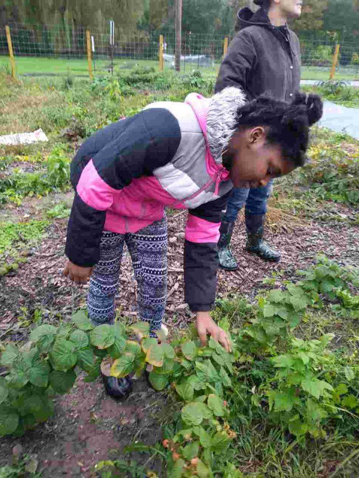 child holding plant
