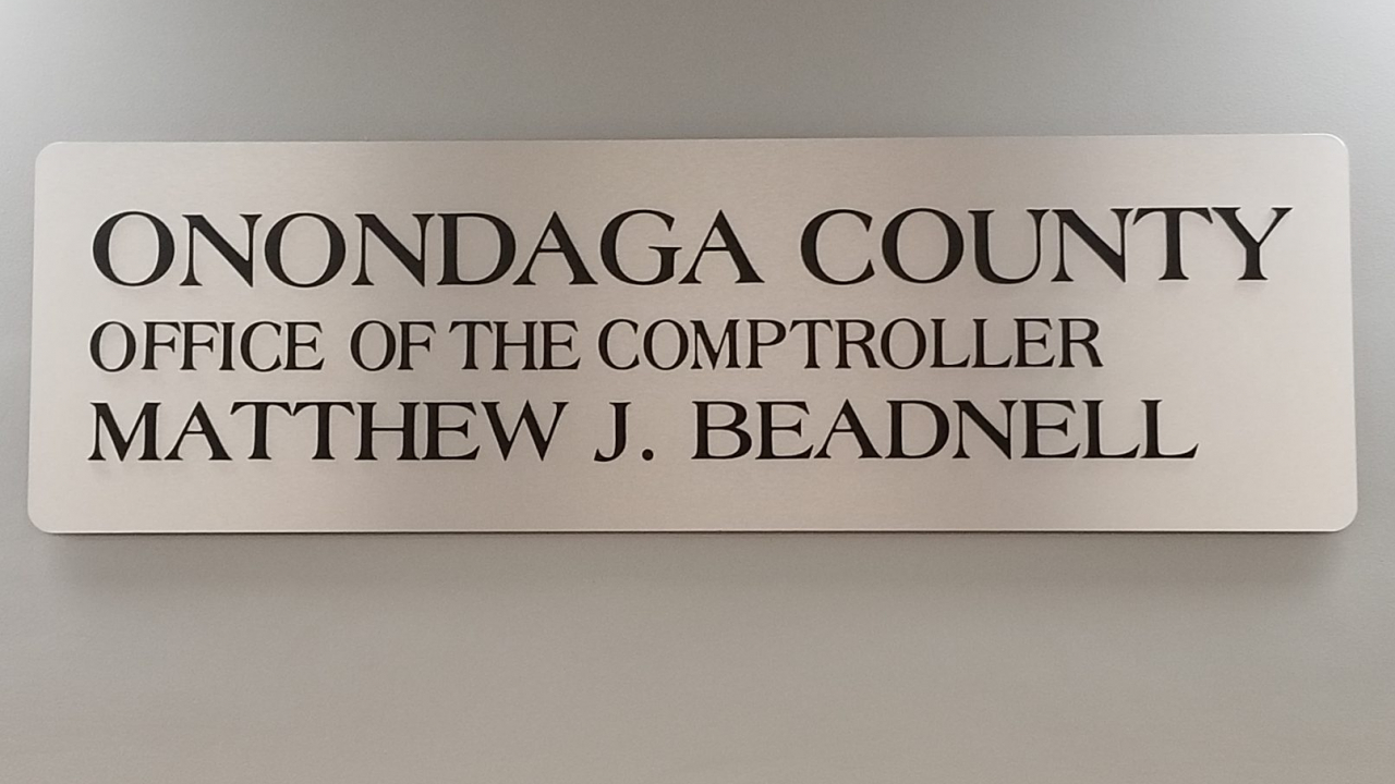 The office of Onondaga County Comptroller Matthew J. Beadnell. The Comptroller reports that debt has remained leveled in 2018.