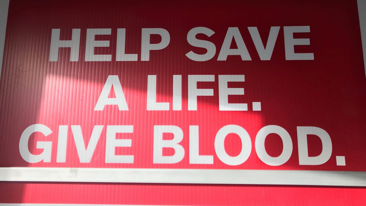 Sign at the american red cross