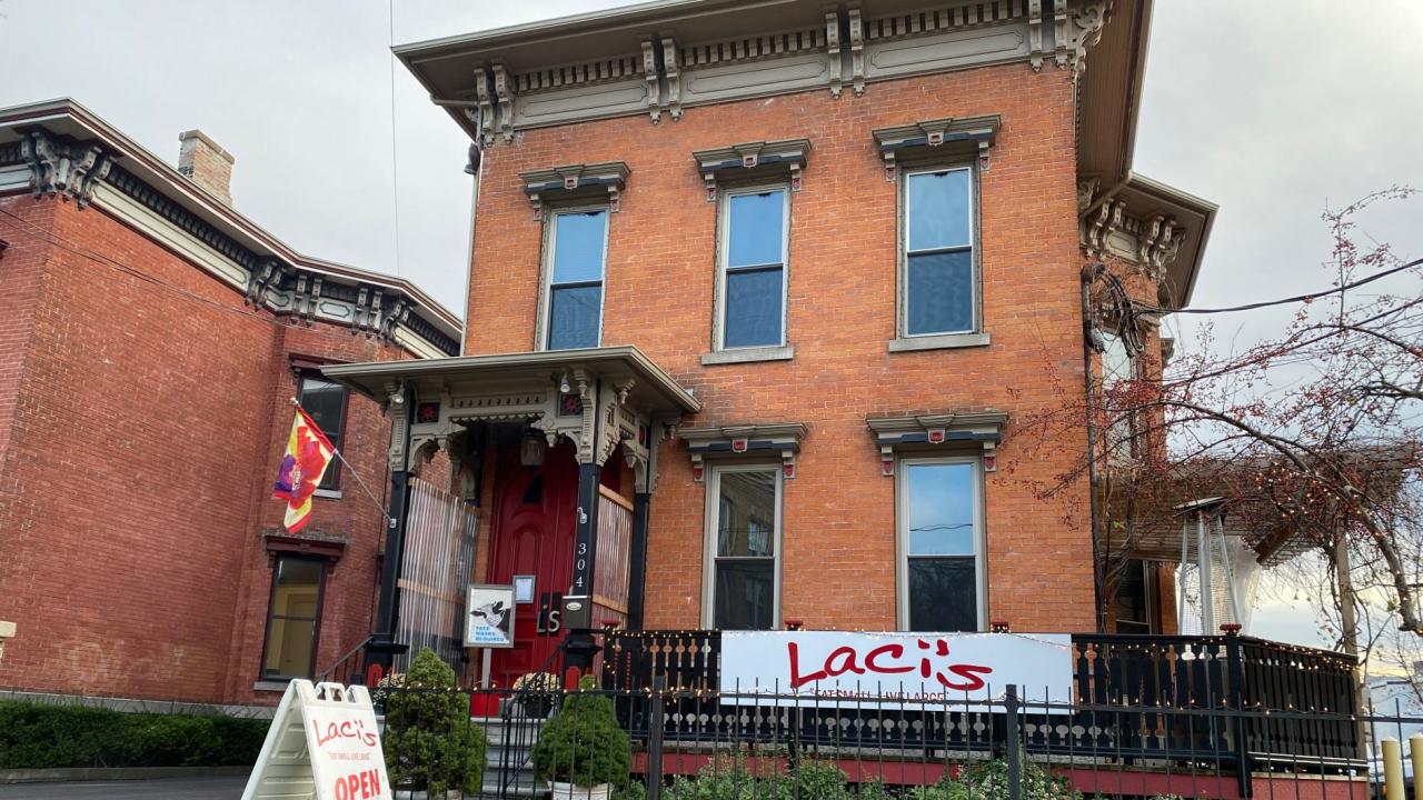 Storefront of Laci's Tapas Bar