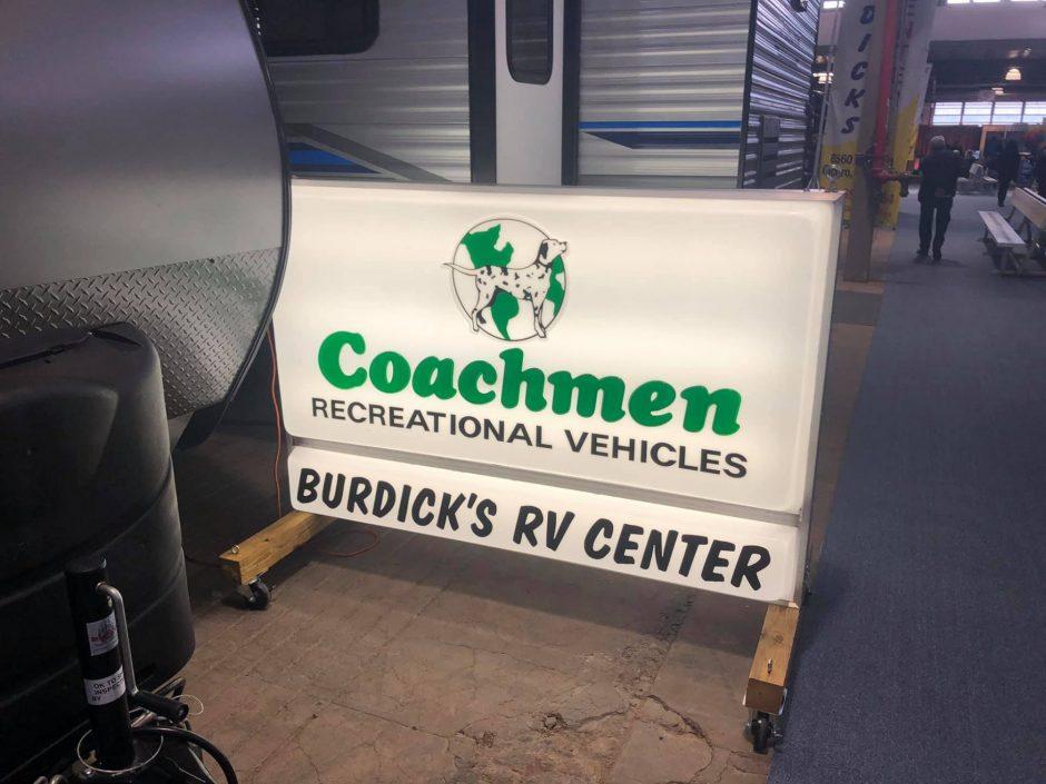 Burdick's RV Center Sign