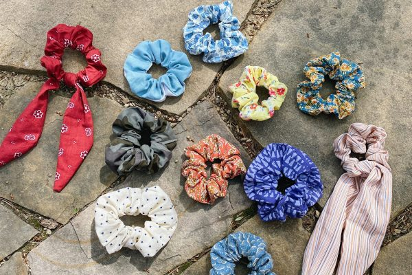 stone, many multi colored hair accessories