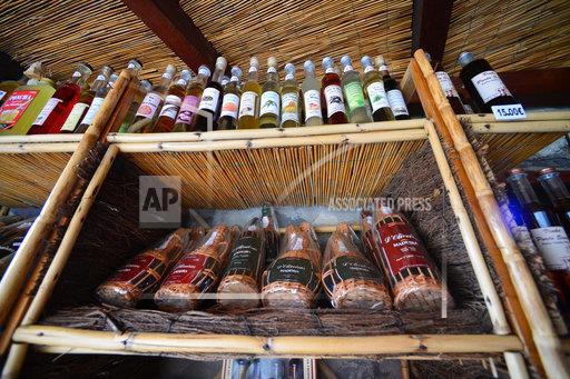 Shelf of a Liquor Store