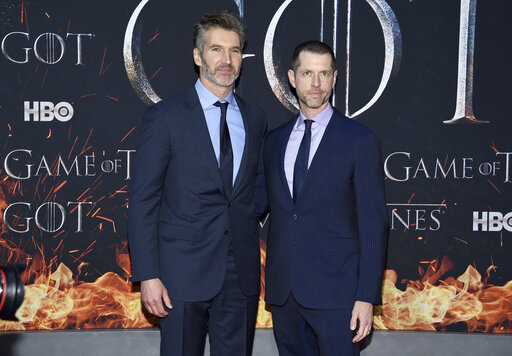 Game of Thrones Executive Producers David Benioff, left, and D.B. Weiss at Radio City Music Hall.