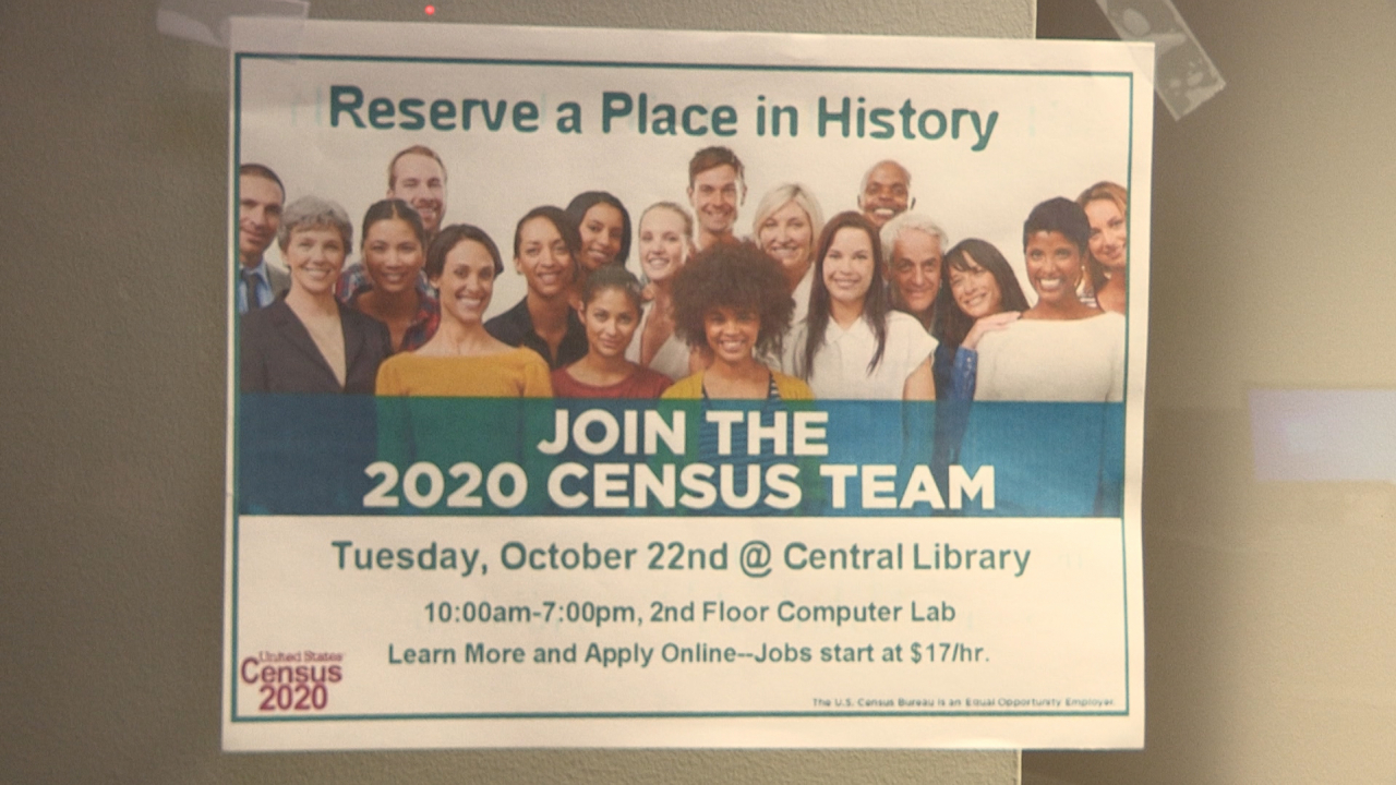 Flyer for the promotion of the 202 Census team.
