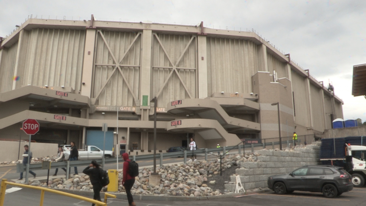 An exterior shot of the Carrier Dome