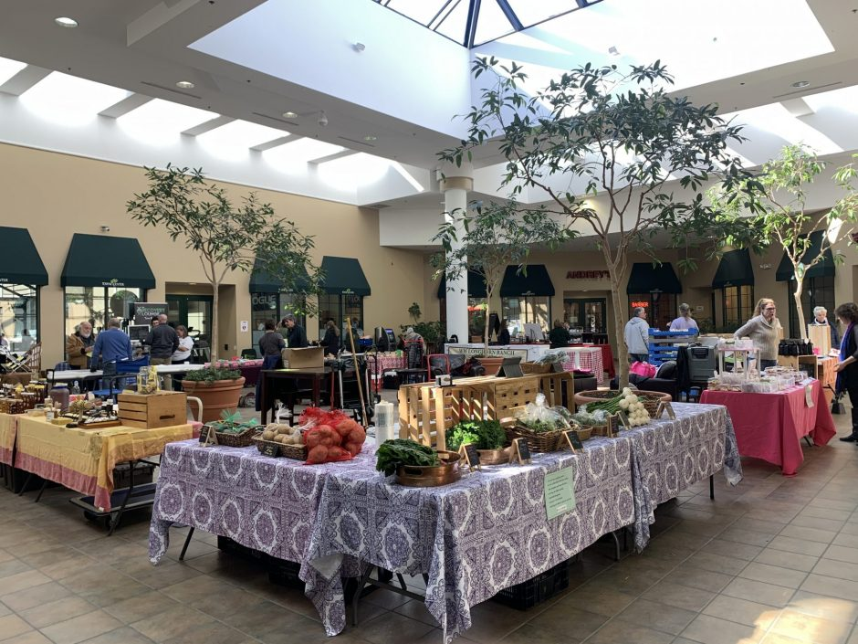 Fayetteville Farmers Market Vendors are located in the Atrium at the Fayetteville Towne Center