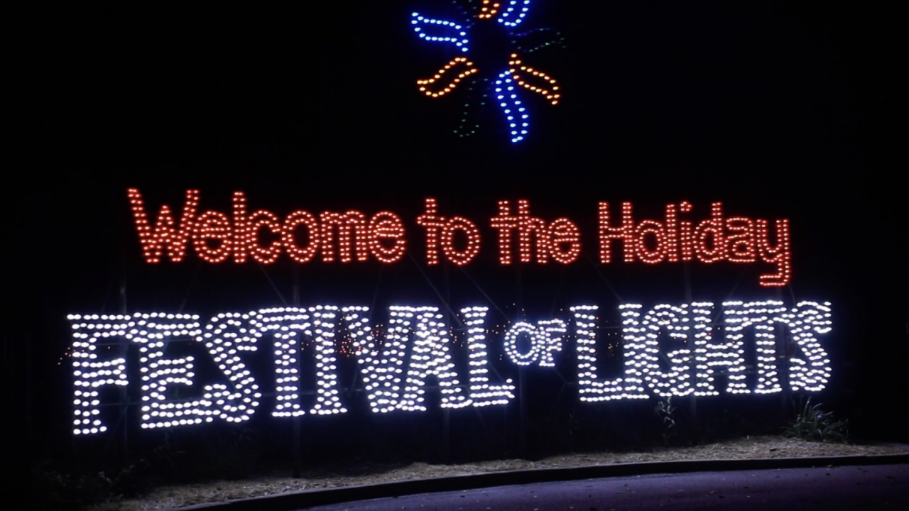 The main entrance sign of the festival