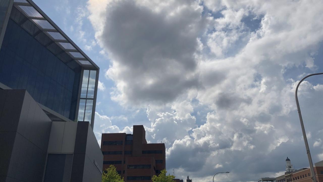 The sky above Syracuse.