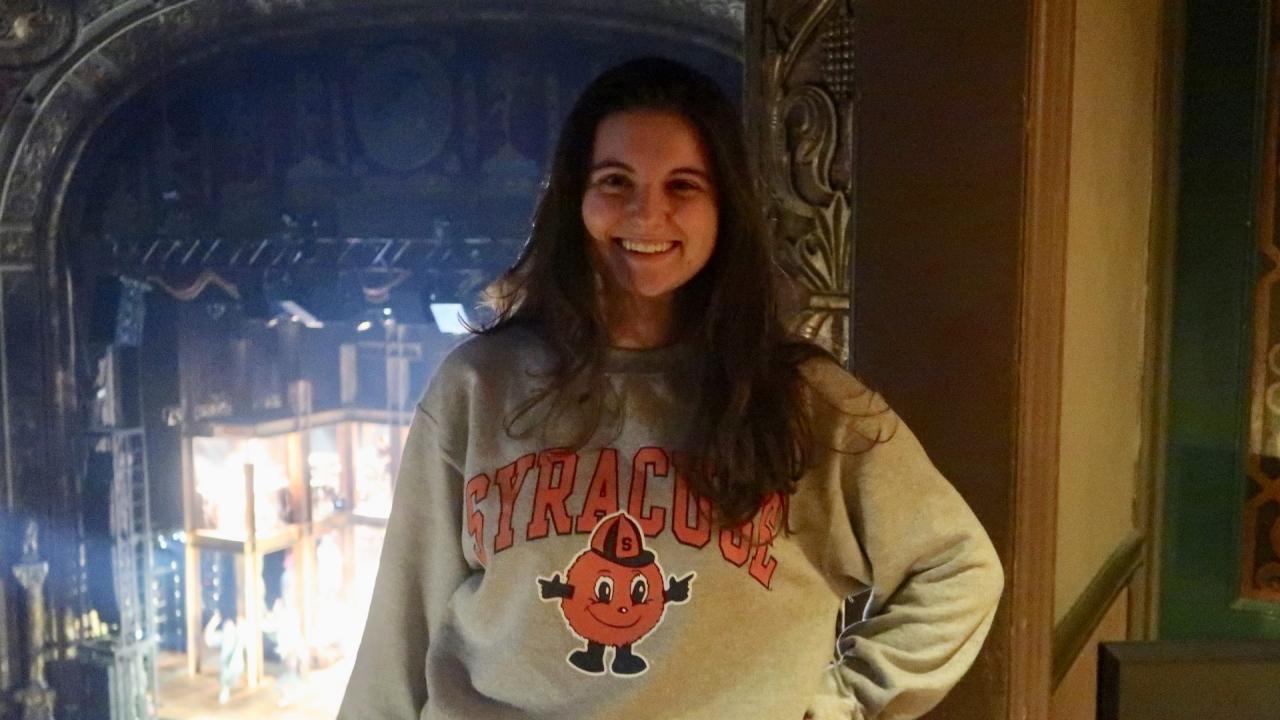Syracuse University student Amanda Gabriel at 'Jesus Christ Superstar' rehearsal