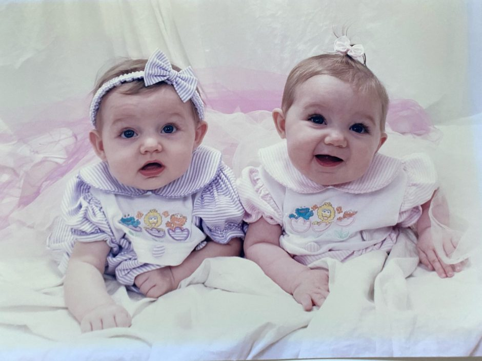 Christina and Cathy Kohl at six months