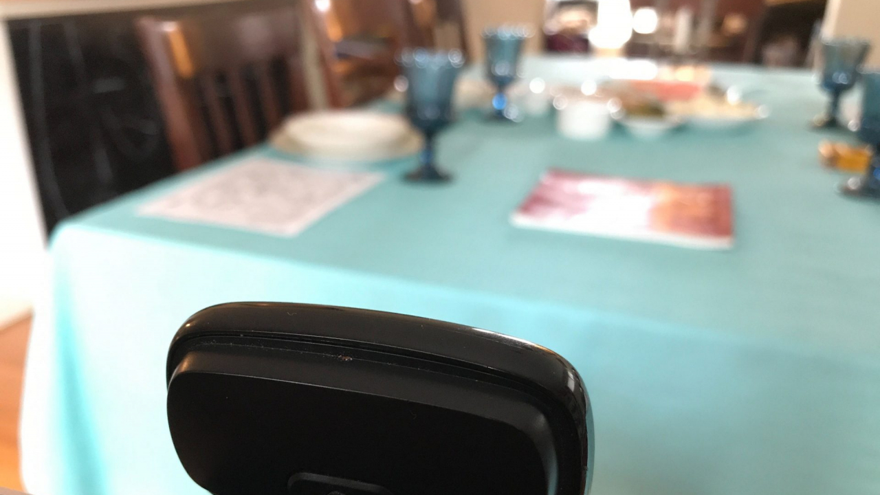 The set-up of a Passover family dinner conducted via Zoom. Virtual dinners and holiday services present challenges for those who struggle with technology.