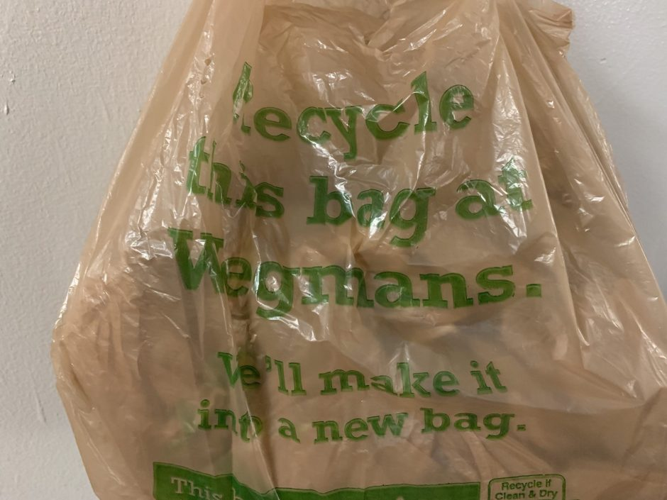 A Wegmans plastic bag