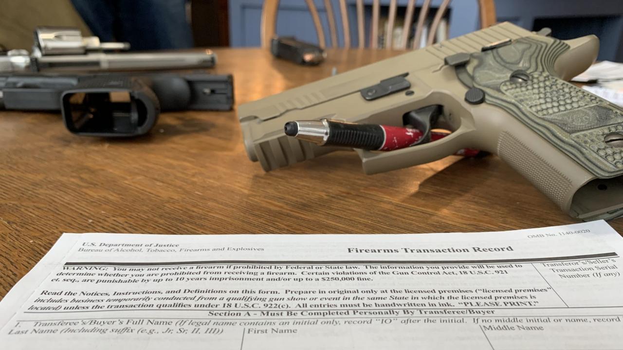 Manufactured guns