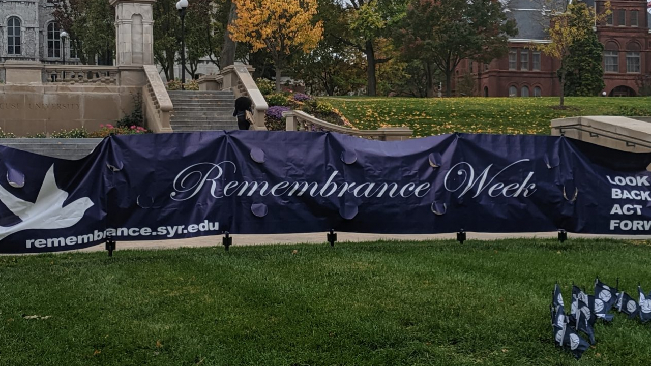 The Syracuse University campus has multiple sites for commemorating the victims of the Pan Am Flight 103 bombing .