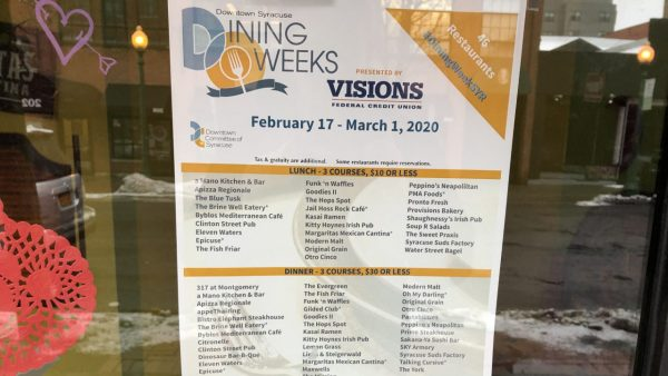 List of participating restaurants in Syracuse Dining Weeks 2020