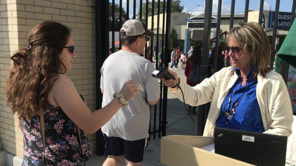 Lorraine Kordek scanning tickets during the New York State Fair