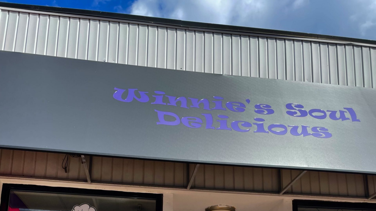 The storefront of Winnie's Soul Delicious Restaurant