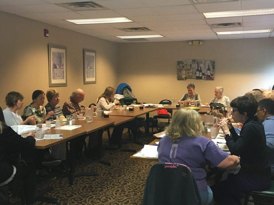 Members of LWV in a meeting