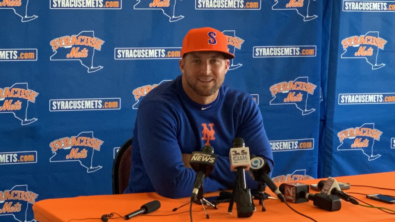 Tim Tebow is in his first season with the Syracuse Mets, the Triple-A affiliate for the New York Mets.