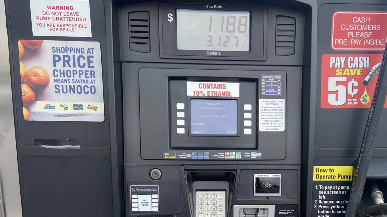 A fueling station at a Sunoco on Erie Blvd.