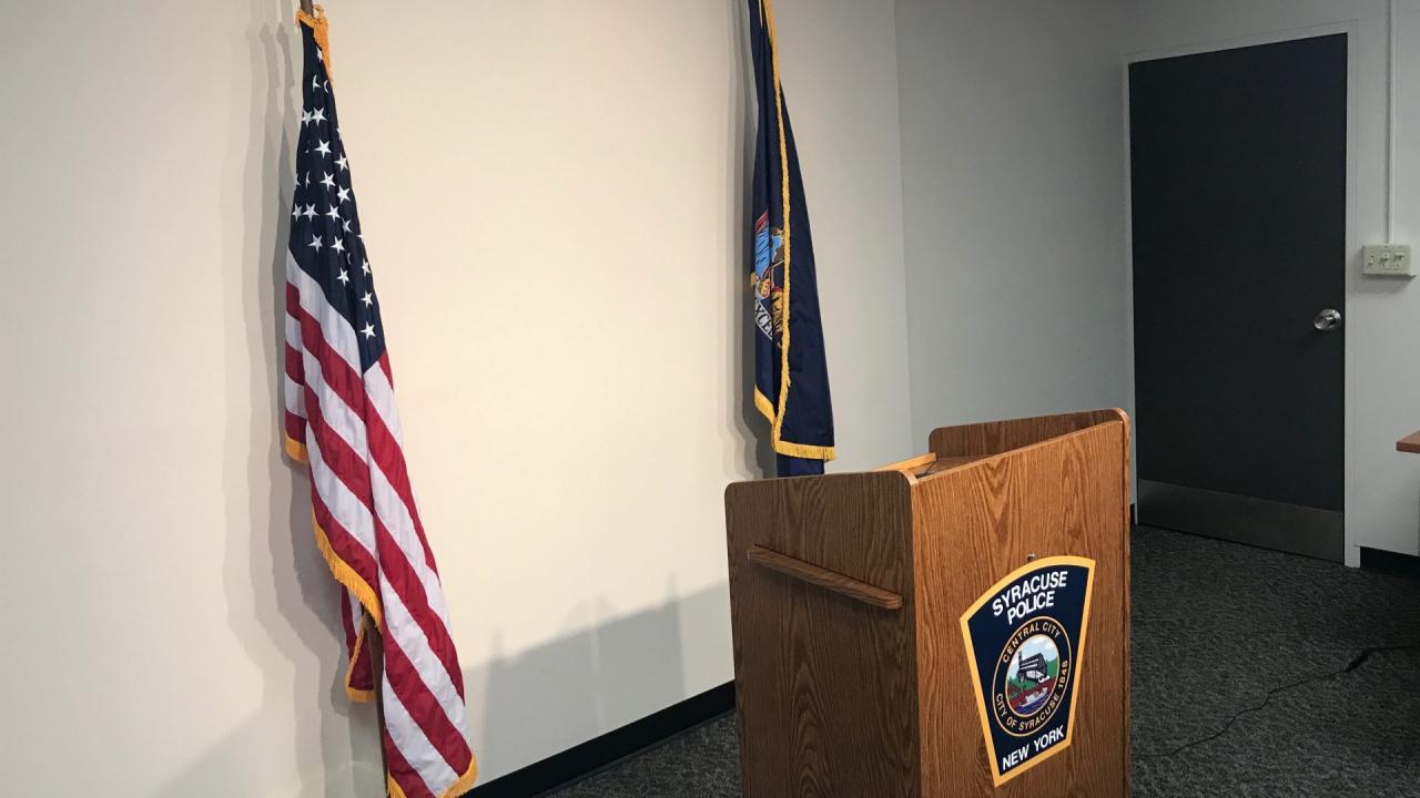 Syracuse Police Podium