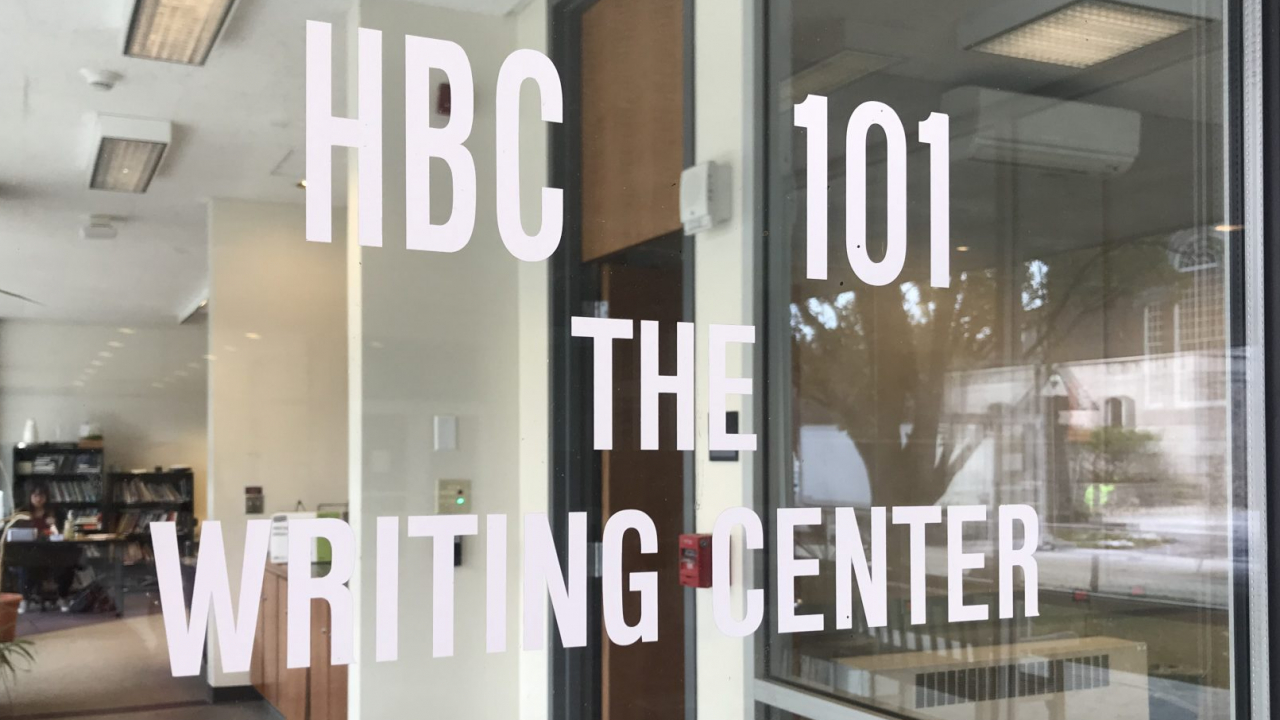 Entry way to HBC writing center