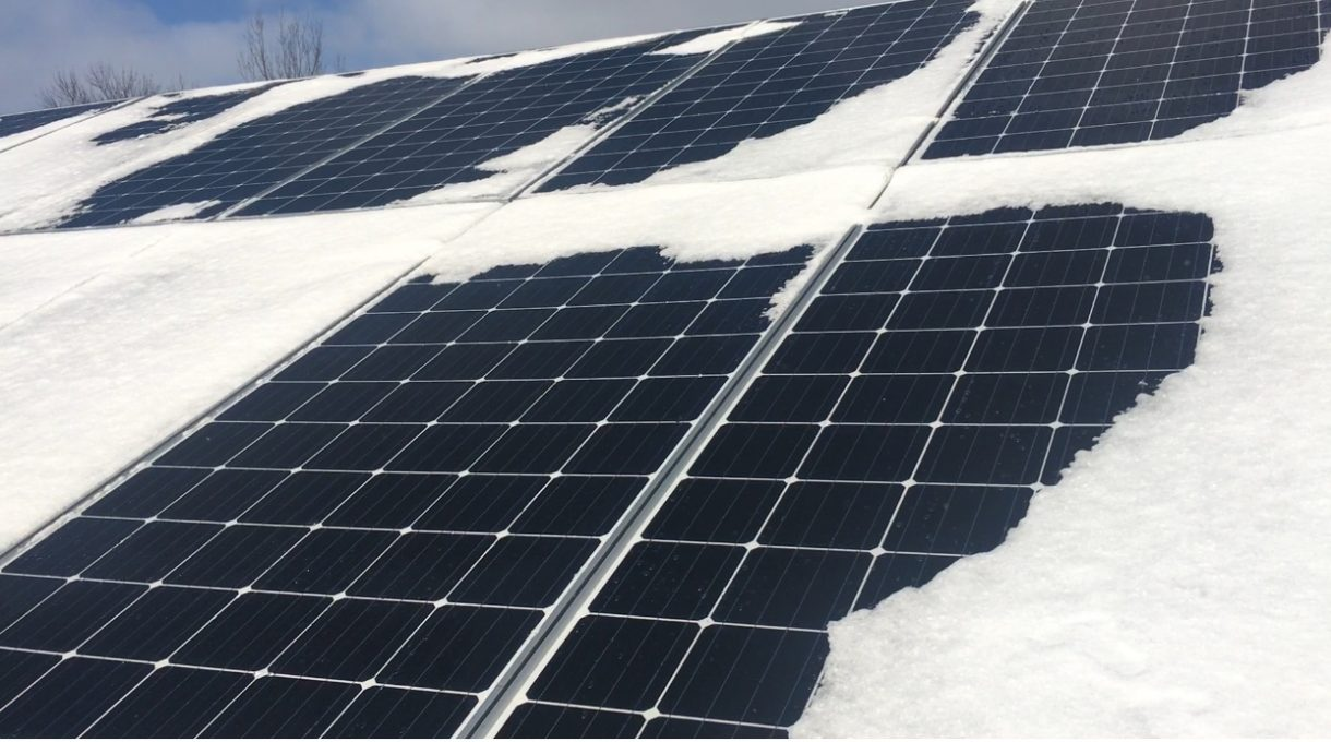 Solar Panels and snow
