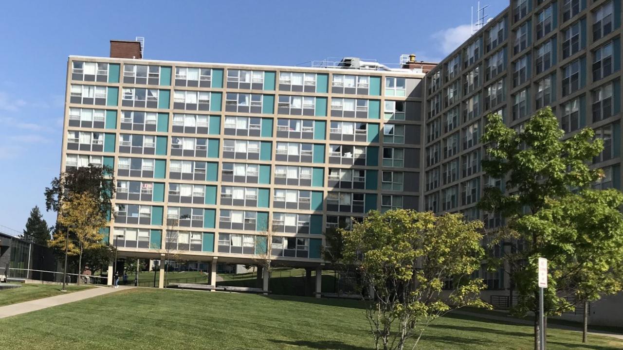 Syracuse University's Ernie Davis Hall and DellPlain Hall