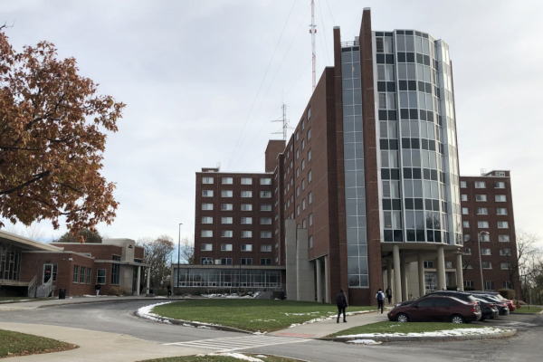 Day Hall, the Syracuse University residence hall where the vandalism occurred.