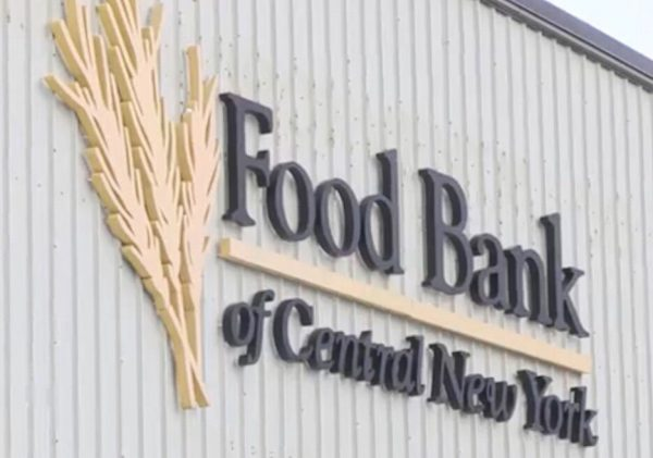 A picture of the sign on the outside of the warehouse at the Food Bank of Central New York
