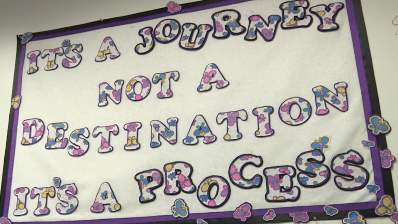 Picutre of inspirational poster at Women's Opportunity Center