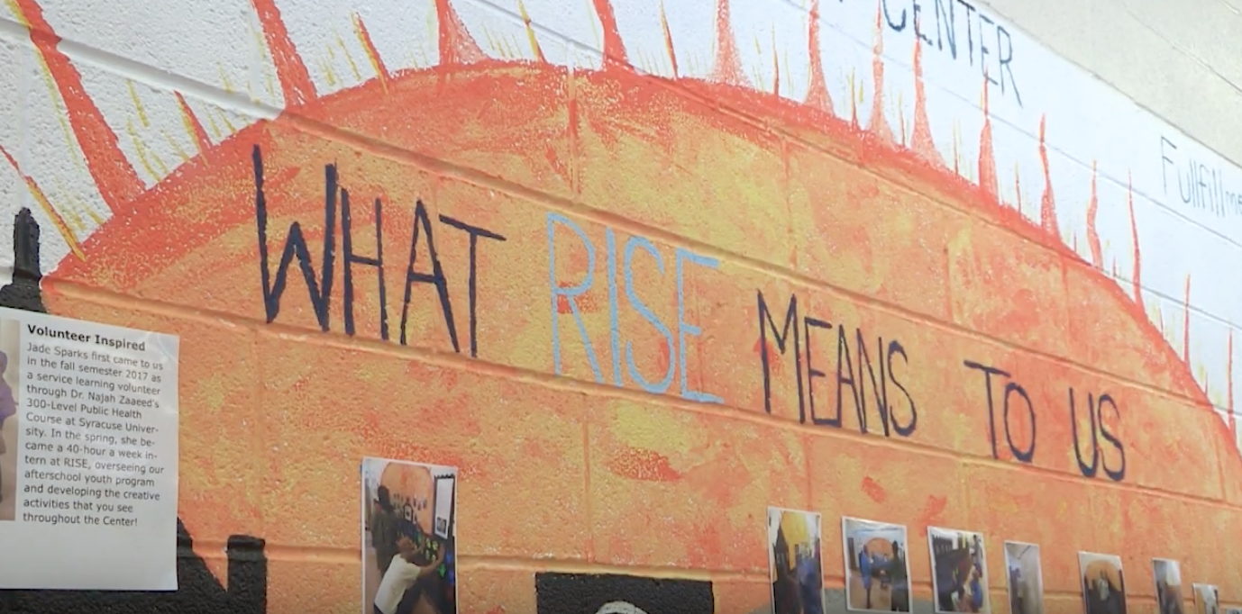 A mural painted on the wall at Rise.