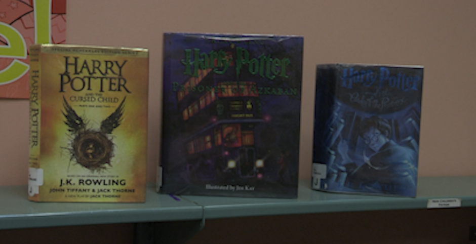 Harry Potter Books on display