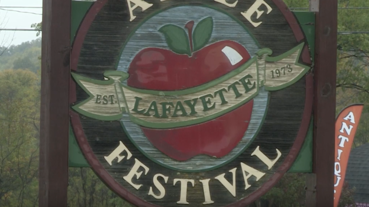The Lafayette Apple Festival will continue no matter what the weather.
