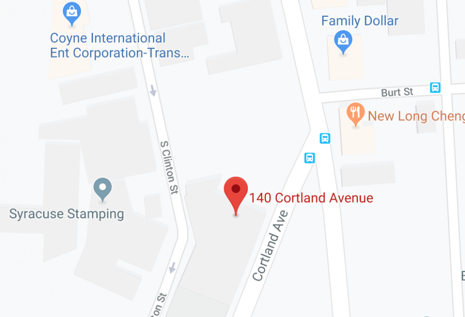A map of the location of the new facility.