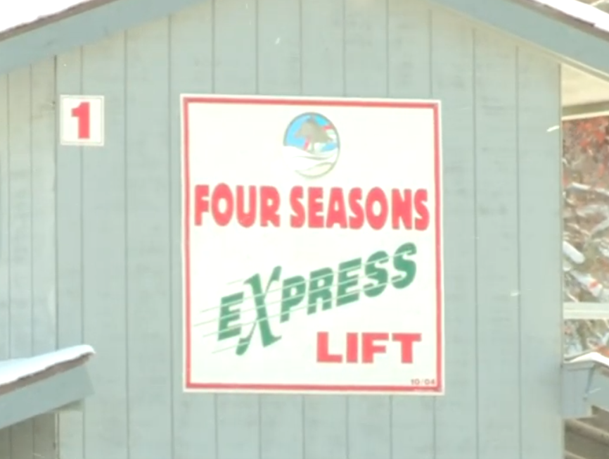 A sign displayed on a shed