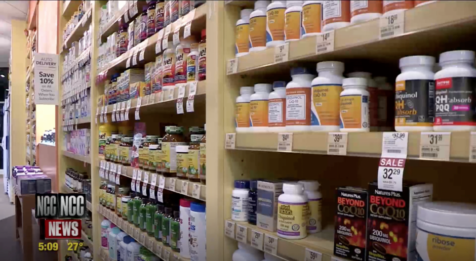 Supplements at the Vtamin Shoppe.