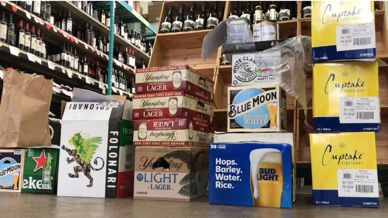 Orders piling up at a local liquor store in New Jersey