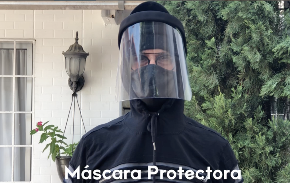Through this tutorial Wilson and Adela teach us how to make a protector mask.