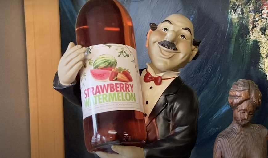 Smiling Server Wine Holder