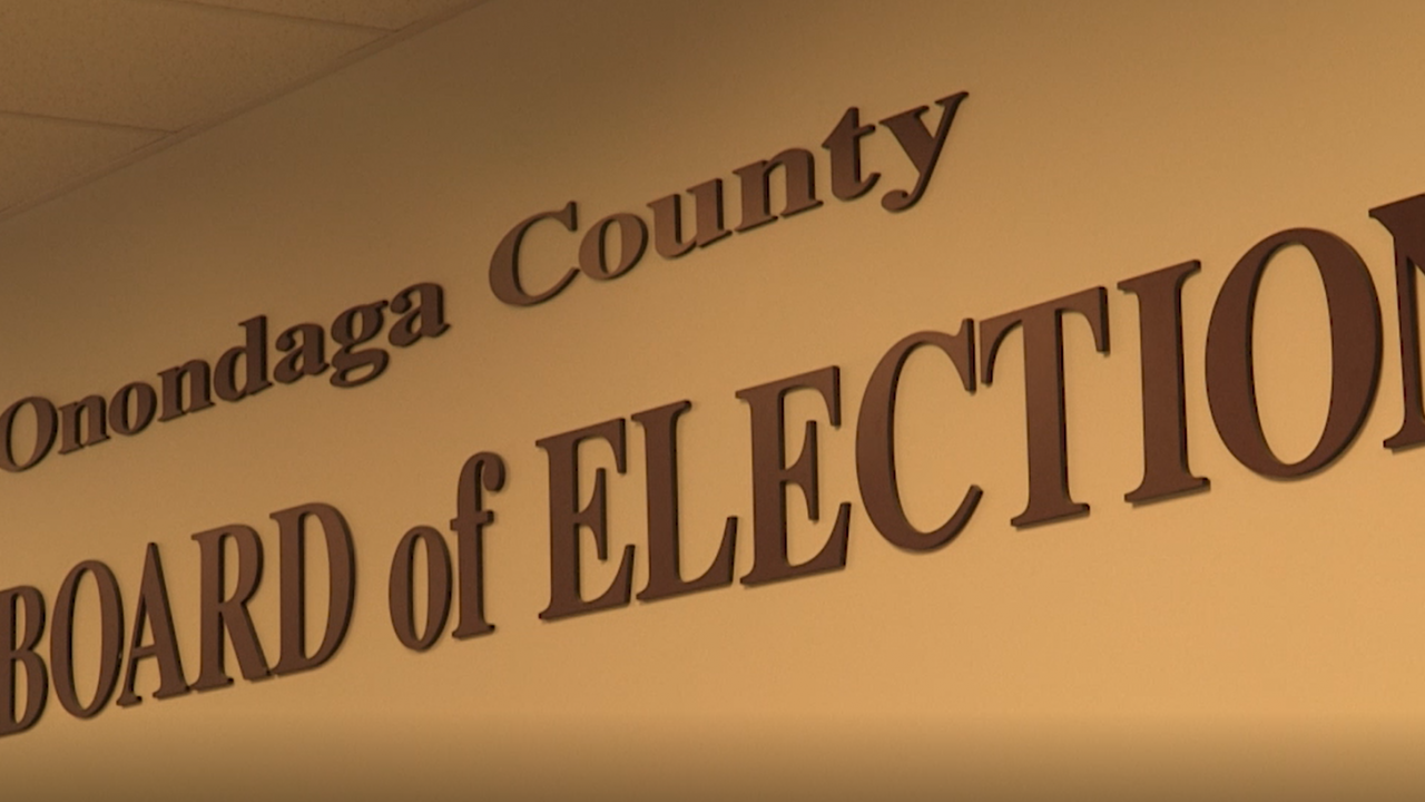 photo of the Onondaga County Board of Elections Sign