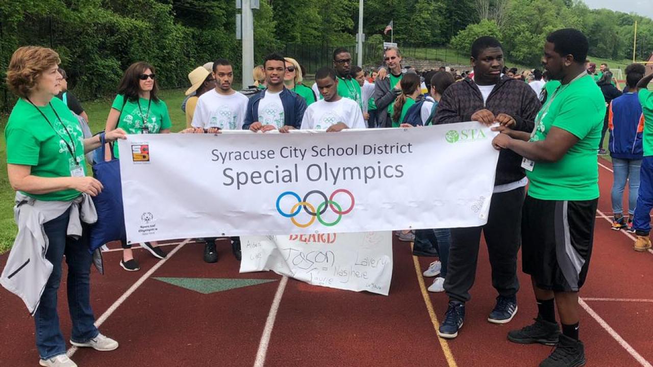 Special Olympics participants