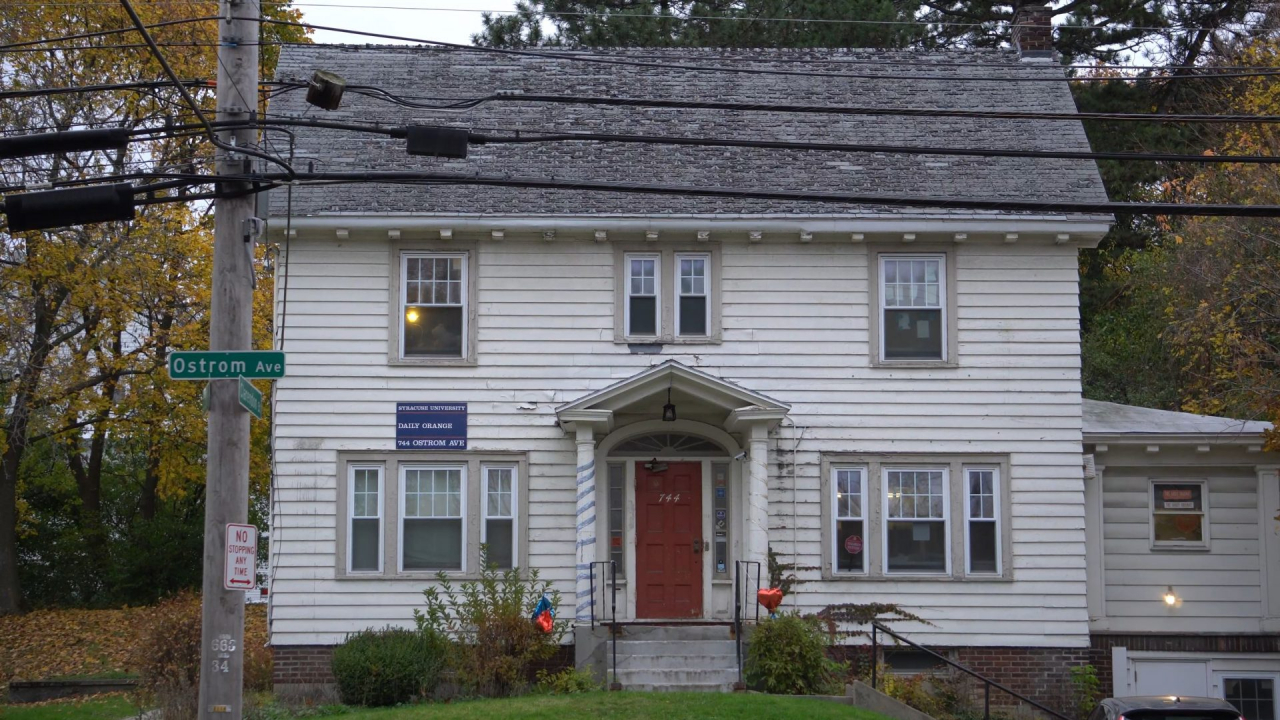 daily orange old house