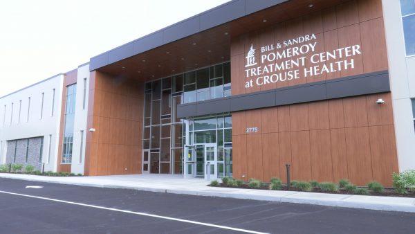 The exterior of Crouse Hospital's new addiction treatment center.