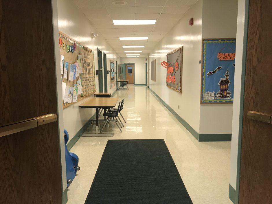 Hallway at C. Grant Grimshaw Elementary School