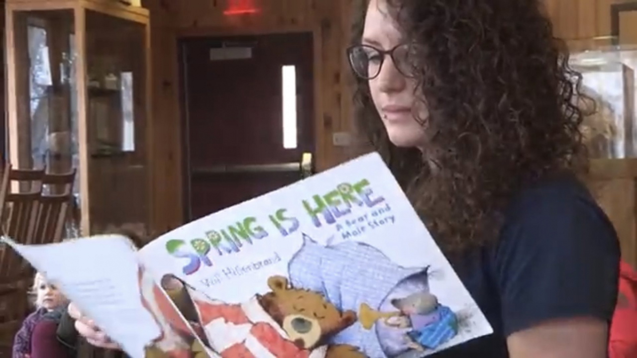 Charlotte Rozanski reading Spring Is Here