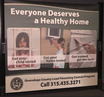 An Onondaga Health Department sign