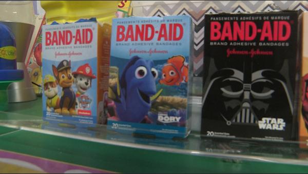 A dog, fish, and Star Wars band-aid.